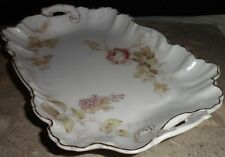 Vintage 79 Dinner Ware White Porcelain Tidbit Tray Rose Garden Gold Trim 8475