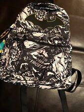 "NEW DC Comics BATMAN DARK KNIGHT Print 16"" Kids School Backpack Book Bag"
