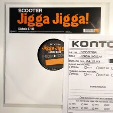 "♪♪ SCOOTER - JIGGA JIGGA 1TRK PROMO (2) 12"" VINYL RARE ♪♪"