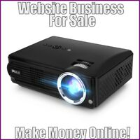 Fully Stocked VIDEO PROJECTOR Website Business|FREE Domain|Hosting|Traffic