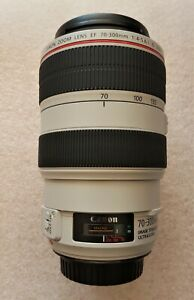 CANON EF 70-300mm f/4-5.6L IS USM ZOOM LENS WITH ORIGINAL BOX, HOOD & CAPS