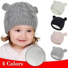 Toddler Kids Girl Boy Baby Winter Warm Hat Scarf Beanie Knit SKull Cover Cap US@