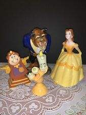 Beauty And The Beast Disney Ceramic Figurines Lot