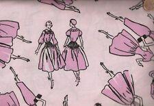 Vintage fashion girls ladies pink Timeless Treasures fabric