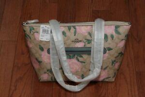 NWT $275 Coach 31206 Camo Rose Signature Canvas Taylor Tote Handbag Khaki/Blush