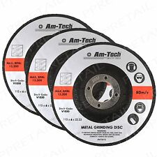 3pc Metal Grinding Discs 115 X 6mm Quality Grinder Heavy Duty Depressed Centre