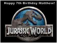 """Jurassic World Park Personalised Cake Topper Edible Wafer Paper 7.5"""" By 10"""" A4"""