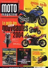 ** Moto Magazine n°201 Spécial Mondial du deux roues / Suzuki GSF 1200 Bandit S