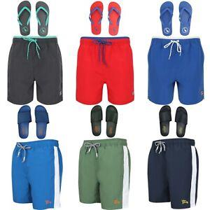 Men's Tokyo Laundry Swim Shorts With Sliders & Flip Flops Gym Lounge Active Wear