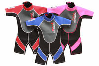 Childrens Toddlers Nalu Shortie Shorty Beach Wetsuit Age Size 1 2 3 4 Years Old