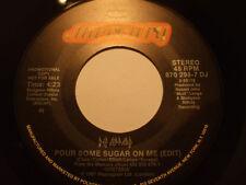 "DEF LEPPARD ~ Pour Some Sugar On Me RARE 7"" DJ Promo Single US Mercury 1988 Mint"