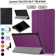 Fino Libro Funda de Piel para Lenovo Tab E10 TB-X104F Smart Soporte Magnético