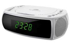 Radiosveglia con radio, CD, USB funzione di ricarica e 2 orari bianco