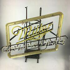 Miller Genuine Draft Beer Neon Sign Parts or Repair