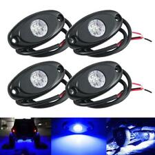 4x CREE LED Rock Light Blue Vehicle Offroad Truck ATV UTV Trail Fender Rig Lamp