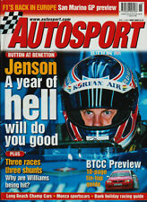 Autosport 12 AVR 2001-Schumacher, bouton, Monza, Benetton, BTCC, Williams,