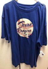 New MLB  Texas Rangers Logo Big and Tall T Shirt 3XL XXX Blue