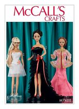 SEWING PATTERN! MAKE 11.5 INCH DOLL CLOTHES! FANCY DRESSES~CORSET! FITS BARBIE!