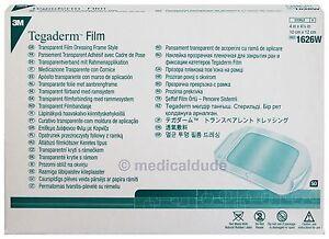 "50 Tegaderm Transparent Film Dressing 1626W 4"" X 4 3/4"" by 3M"