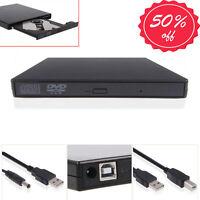 USA USB 2.0 External DVD Combo CD-RW CD±RW Burner Drive ROM Player PC MAC Black