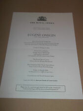 7 X THE ROYAL OPERA  VARIOUS PROGRAMMES ALL LISTED