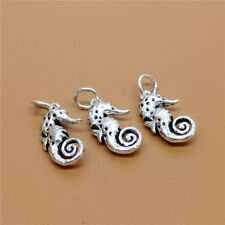 3 Sterling Silver Seahorse Sea Horse Charms 925 Silver for Bracelet Necklace