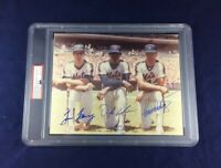 A TIM LEARY,DWIGHT GOODEN,RON DARLING SIGNED 1984 8 X 10 GEM MINT 10! PSA/DNA!