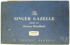 SINGER Gazelle Series IIIC 6600889 IB.361/3 1962 Original Owners Car Handbook
