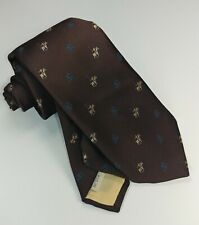 """Vintage Stamms Mens Brown Polo Horse Rider Silk Blend Neck Tie 56"""" 3"""""""