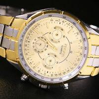 Herren Armbanduhr Edelstahl Legierung Quarz Uhr  Geschenke Persönlichkeit Sale