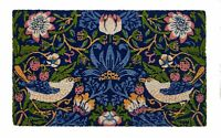 "DOOR MATS - WILLIAM MORRIS ""STRAWBERRY THIEF"" COIR DOORMAT - 18"" X 30"" - V & A"