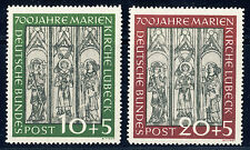 BUND 1951, MiNr. 139-140, 139-40, postfrischer Kabinettsatz, Mi. 220,-