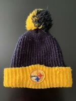 Vintage 1970s Pittsburgh Steelers Knit Tossle Cap Winter Hat