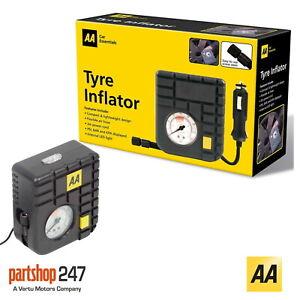 AA 12V Car Tyre Air Compressor Inflator LED Pump Pressure Gauge Cigarette Socket