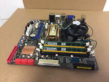 #S5B18 ASUS P5QL-EM w/Intel Q9400 2.66 GHz CPU/ 4GB RAM and Face Plate