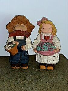 Vintage Lizzie High Holly Hobbie Handcrafted Dolls Hillbilly Set of 2 ❤️sj8j