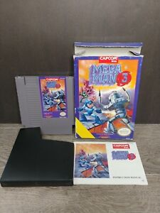 CIB complete Mega Man 3 megaman Nintendo NES misprint variant NTSC see pictures