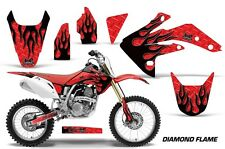Honda Graphic Kit AMR Racing Bike Decal CRF 150R Decal MX Parts 07-13 DFLAME BLK