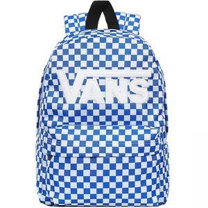 Vans Kids Childrens Youth New Skool School Travel Backpack - Blue Checkerboard