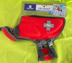 Top Paw Neoprene Life Jacket For Dogs - Bright Color