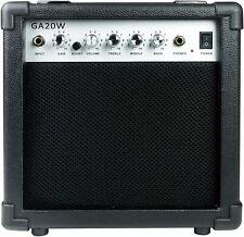 Gitarrenverstärker RockJam GA20W 20 W Amp 3Band Equalizer Musik Bass schwarz