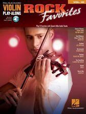 Rock Favorites Violin Play-Along Book Audio Online NEW 000130216