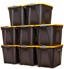 EIGHT 22 Gallon Storage Container With Latches Bins Boxes Tote Garage Organizer