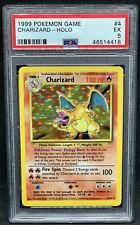 1999 Pokemon Base Set Unlimited #4 Charizard Holo PSA 5 EXcellent BGS