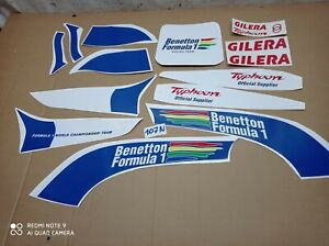 ADESIVI PIAGGIO GILERA TYPHOON 50cc BENETTON F1 DECALCOMANIA KIT GRAFICHE