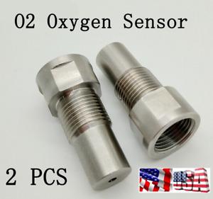2X O2 Oxygen Sensor Extension Extender Adapter Spacer M18X1.5 For Car CEL Fault