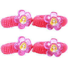 TANGLED Sparkle HAIR TIES (4) ~ Birthday Party Supplies Favors Bands Ponytail