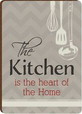 """THE KITCHEN IS THE HEART OF THE HOME Wooden Refrigerator Magnet, 2.5"""" x 3.5"""""""