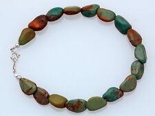 Navajo Handmade Natural Green Turquoise Bead Bracelet