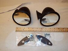 "4"" Bullet Race Sports Car GT Racing Black Side Exterior Mirror Hot Rat Rod Pair"